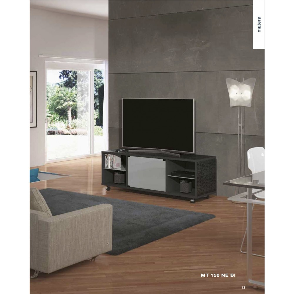 Munari matera mt150ne mobile porta tv fino a 60 for Mobile porta hi fi