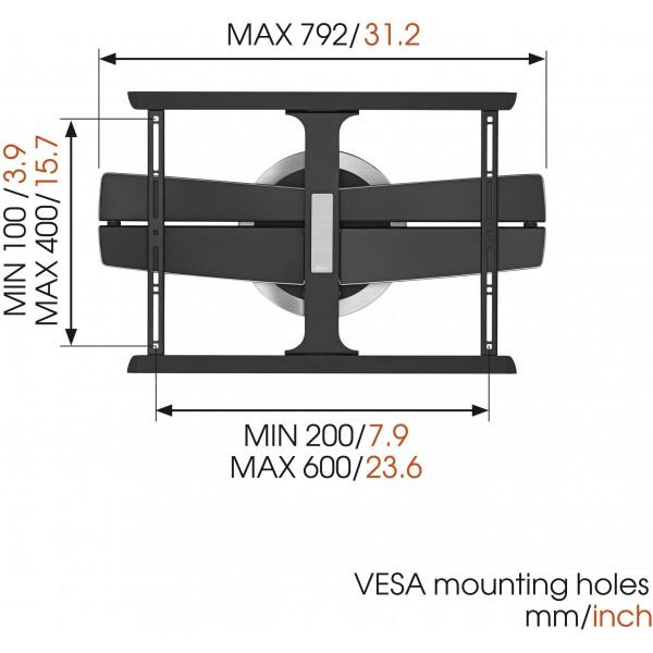 Vogel 39 s next 7345 supporto tv girevole da parete staffa per tv curve stereodrom hi fi - Supporto tv da parete ...