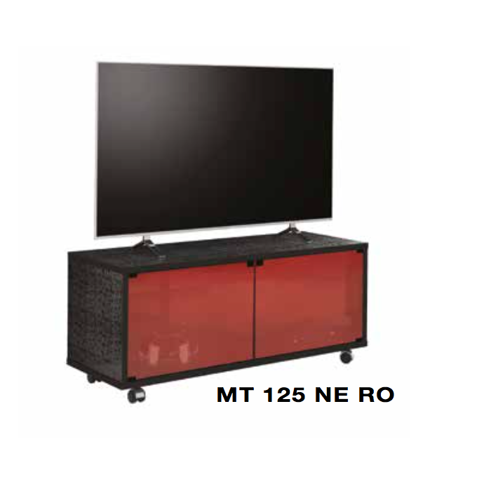 MUNARI MATERA MT125NE MOBILE PER TV CON ANTE IN VETRO COLORATO