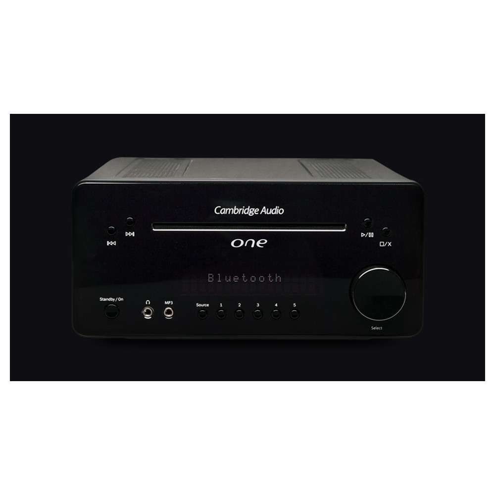 CAMBRIDGE AUDIO ONE Nero Sistema Audio Compatto con Bluetooth CD e DAC