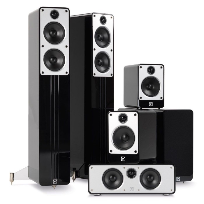 Q CONCEPT CINEMA PACK 5.1 BLACK HIGH GLOSSY