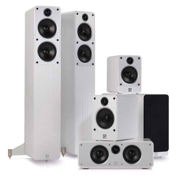 Q ACOUSTICS CONCEPT CINEMA PACK 5.1 WHITE HIGH GLOSSY