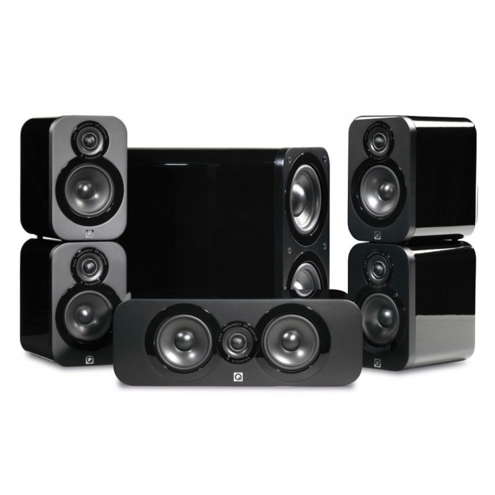 Q ACOUSTICS Q 3000 BLACK HIGH GLOSSY