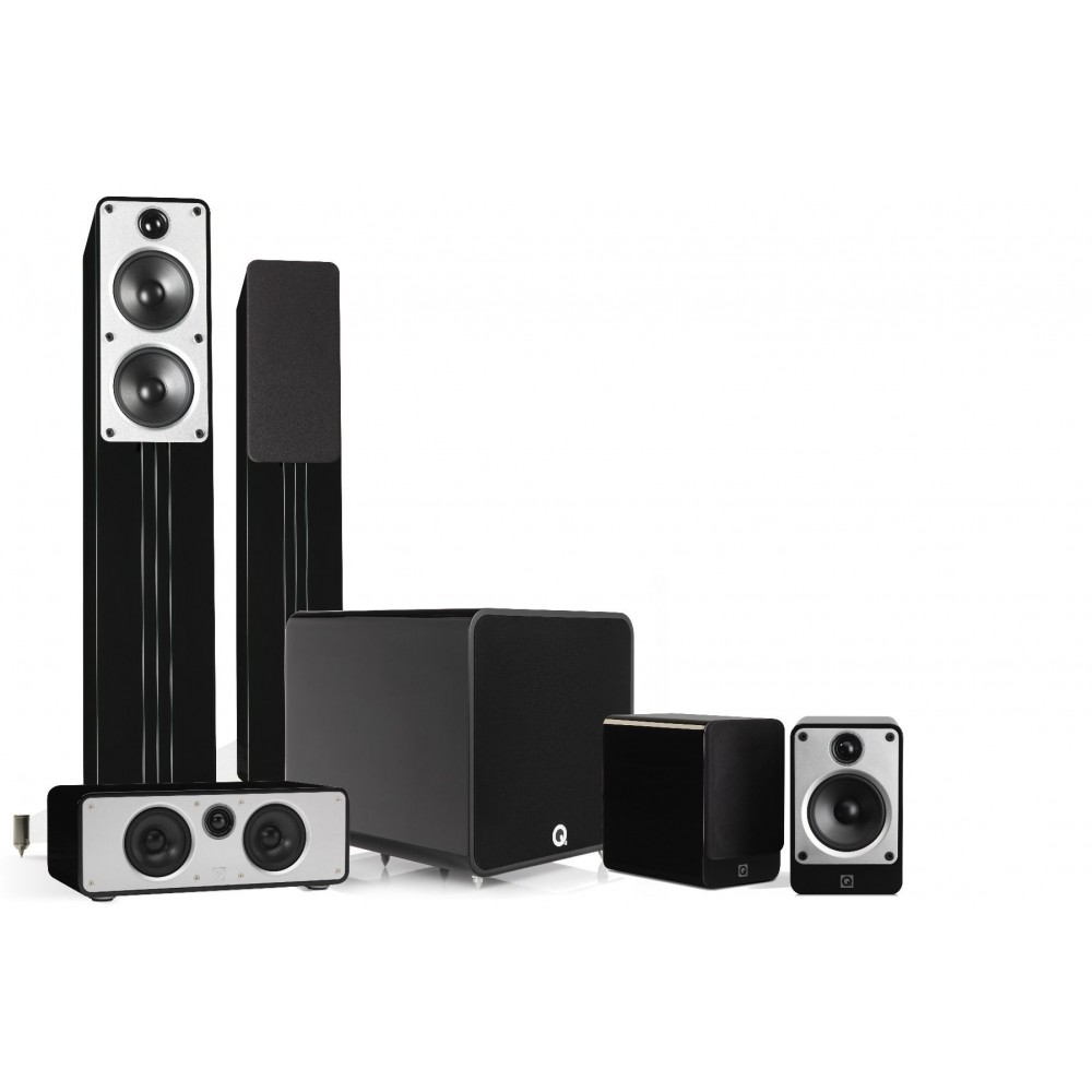 Q ACOUSTICS 5.1 PLUS CINEMA PACK BLACK HIGH GLOSSY