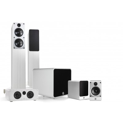 Q ACOUSTICS 5.1 PLUS CINEMA PACK WHITE HIGH GLOSSY
